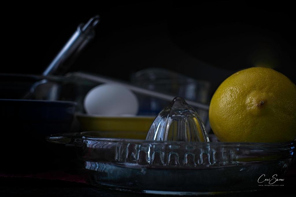 lemon and baking tools