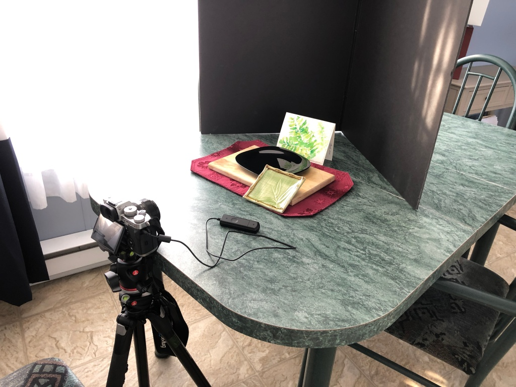behind the scenes photo set up